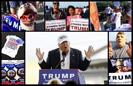 Ylivoimainen enemmistö Donald Trumpin kannattajista on valkoisia, mutta kampanjatilaisuudessa Marylandissa sunnuntaina oli myös joitain vähemmistöjen edustajia. Marylandin esivaalit pidetään tiistaina.