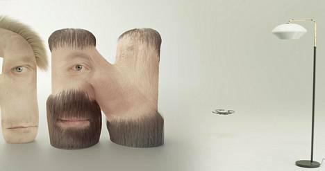 Human Flesh -teoksessa aakkosten kommunikointi on sidottu niiden keholliseen muotoon. Pysäytyskuva teoksesta.