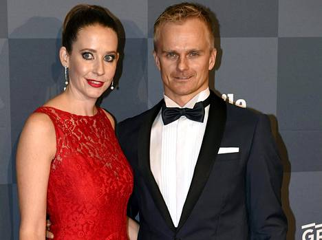 Heikki Kovalainen ja vaimo Catherine Hyde.