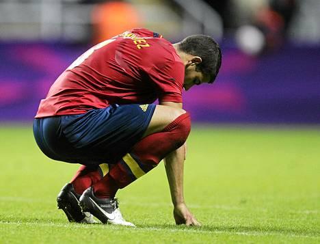 Espanjan joukkueen Alvaro Dominguez.