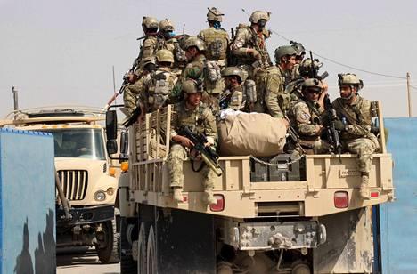 Afganistanin turvallisuusjoukot saapuivat Pohjois-Afganistanin Kunduziin tiistaina.