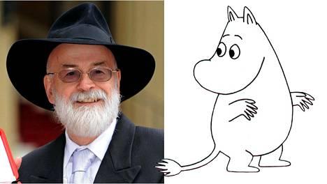 Terry Pratchett ja Muumipeikko.