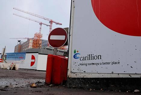 Carillionin sairaalatyömaa Smethwickissa Britanniassa.