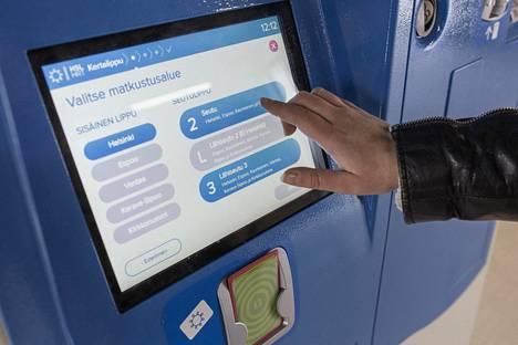 HSL:n lippuautomaatti.