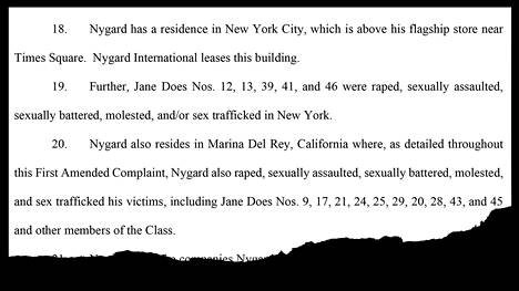 An extended class action lawsuit filed in court on Monday accuses Peter Nygård of raping dozens of women.