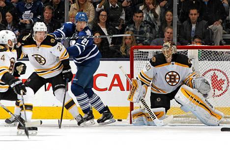 Bostonin Tuukka Rask torjui 32 kertaa, kun hänen joukkueensa voitti Toronton 4-1 vieraissa.