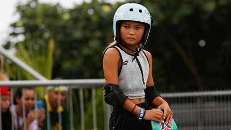 11-vuotias Sky Brown on rullalautailun olympiarankingin kolmonen ja MM-pronssimitalisti.