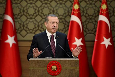 Turkin presidentti Recep Tayyip Erdoğan piti puheen presidentinlinnassa pääkaupunki Ankarassa viime viikolla.