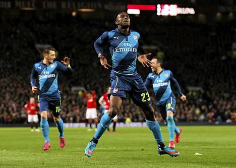 Danny Welbeck otti kaiken irti Manchester Unitedia vastaan tekemästään maalista.