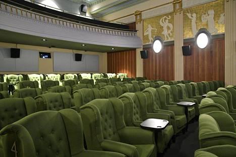 Elokuvateattereiden salit ovat tyhjentyneet koronaviruksen seurauksena. Kuva Maximista Helsingistä helmikuulta 2018.