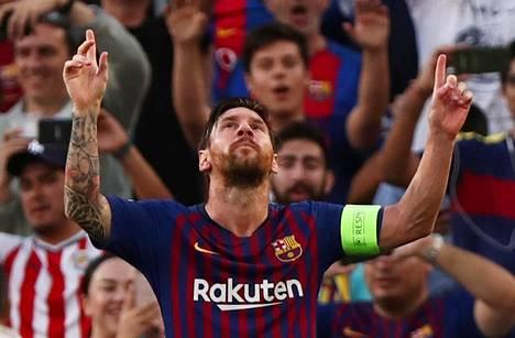 Lionel Messi teki Mestarien liigan tämän kauden avausmaalin.