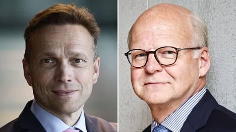 Timo Ritakallio (vas.) ja Reijo Karhinen.
