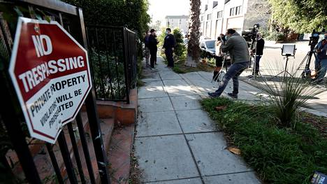A view of the site where Lady Gagas dog walker was shot and two of her dogs were stolen in Los Angeles, California, U.S. February 25, 2021. REUTERS/Mario Anzuoni
