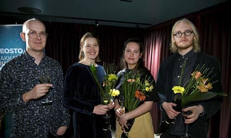 Signen To Sappho-levyn tekijöitä: Sampo Kasurinen (vas), Josefiina Vannesluoma, Selma Savolainen ja Mikko Sarvanne.