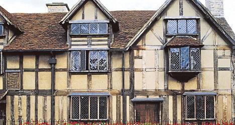 Shakespearen syntymäkoti Stratford-upon-Avonissa.