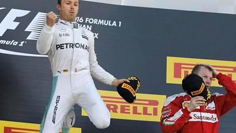 Nico Rosberg tuuletti ykkössijaansa, Kimi Räikkönen otti kolmospaikan tyynesti.