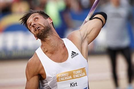 Magnus Kirt heitti aiemmin kesäkuussa Turussa Paavo Nurmi Gamesissa.