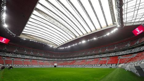 Al Bayt -stadion valmistui Dohan pohjoispuolelle vuoden 2022 jalkapallon MM-kisoja varten.