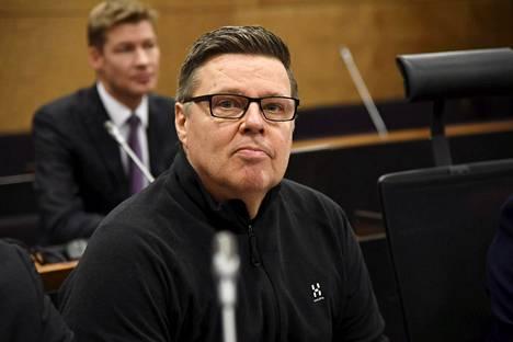 Helsingin huumepoliisin entinen päällikkö Jari Aarnio Helsingin hovioikeudessa 8. joulukuuta viime vuonna.