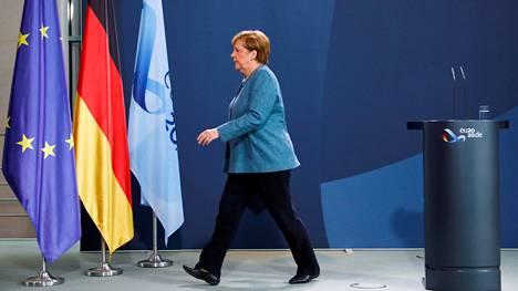 Saksan liittokansleri Angela Merkel poistui keskiviikkona tiedotustilaisuudesta, jossa hän teki selväksi sen, että Aleksei Navalnyi myrkytettiin ja Venäjä on teosta vastuussa,