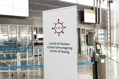 Helsinki-Vantaan lentoasemalla on tehty yli 1 700 vapaaehtoista koronavirustestiä.