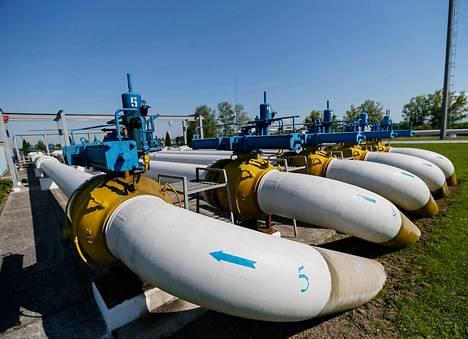Kaasuputkia Ukrainan Uzhhorodissa.