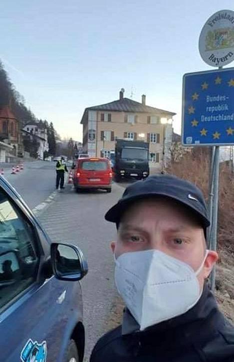 Patrik Leikas pääsi lauantaina taksilla Itävallasta Saksaan.
