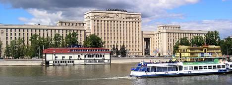Yksi Venäjän puolustusministeriön rakennuksista Hamovnikin alueella Moskovassa.