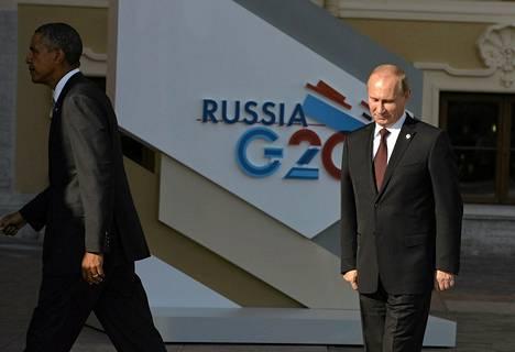 Barack Obaman ja Vladimir Putinin kehnot välit näkyivät, kun presidentit kohtasivat Pietarin G20-kokouksessa torstaina.