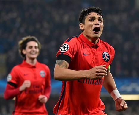 PSG:n Thiago Silva nousi Mestarien liigan neljännesvälieräottelun ratkaisijaksi Lontoossa.