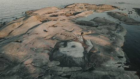 In rock mural, David Popa is able to combine several of his interests: art, movement in nature, and sports.