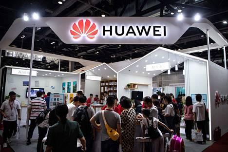 Huawein piste elektroniikkamessuilla Pekingissä elokuun alussa.