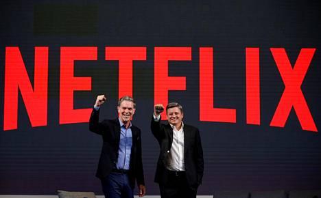 Netflixin Reed Hastings ja Ted Sarandos.