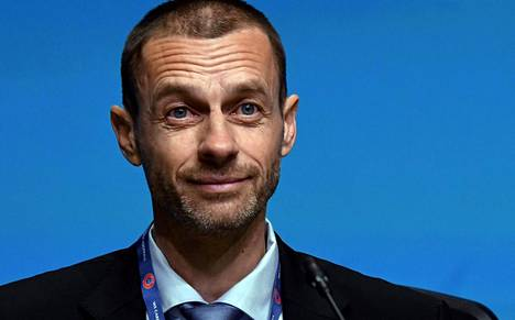 Euroopan jalkapalloliiton Uefan puheenjohtaja Aleksander Ceferin