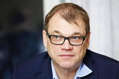 Keskustan puheenjohtaja, pääministeri Juha Sipilä.