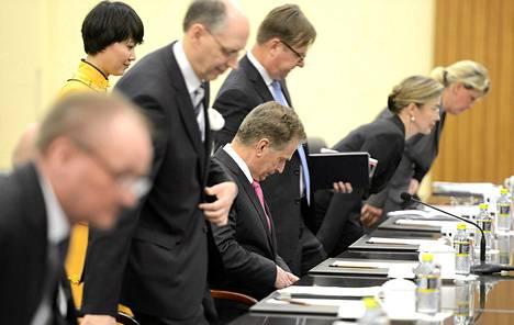 Presidentti Sauli Niinistö aloitti keskustelut Kiinan presidentin Xi Jinpingin kanssa  Sanyassa.