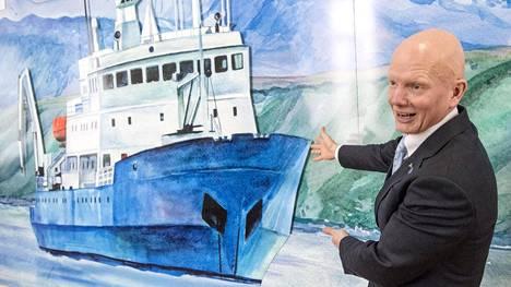 Arctian toimitusjohtaja Tero Vauraste vierailulla Venäjän Argangelissa maaliskuussa 2017.