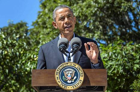 Yhdysvaltojen presidentti Barack Obama piti lehdistötilaisuuden Egyptin kriisistä Chilmarkissa , Marylandissa torstaina.