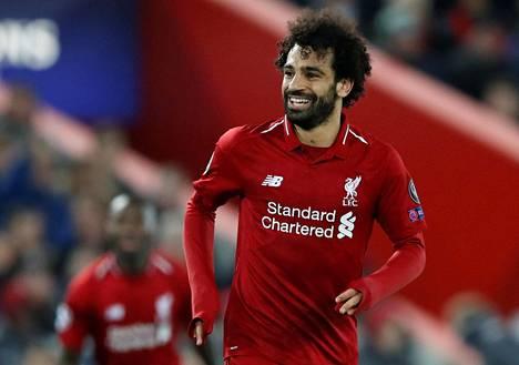 Mohamed Salah oli Liverpoolin sankari ottelussa Napolia vastaan.
