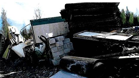 Osa tavaroista oli peräisin purkutyömailta.