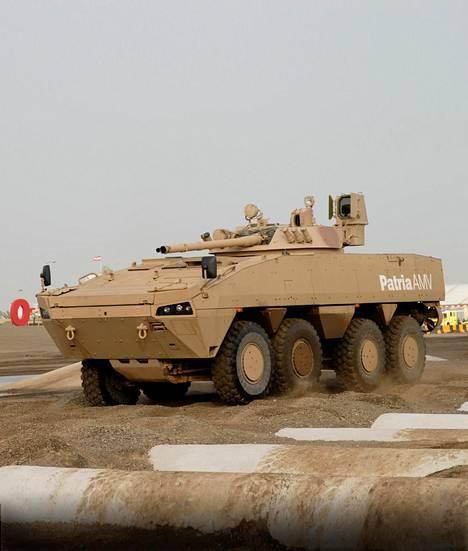 Patrian AMV:n eli panssaroidun pyöräajoneuvon on sanottu olleen mukana Jemenissä käydyissä taisteluissa.
