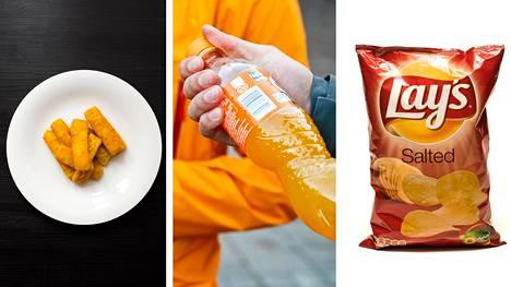 Eroja löytyi muun muassa perunalastujen paistoöljyn koostumuksesta, kalapuikkojen kalamääristä, virvoitusjuomien koostumuksesta ja sokerista.
