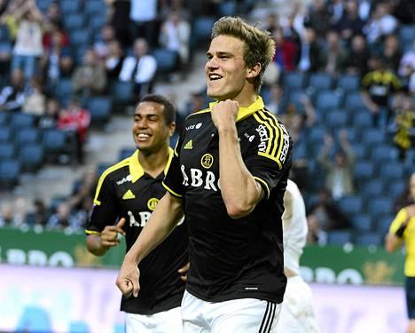 Eero Markkanen oli AIK:ssa maalivireessä. Castilla-debyytissä ei vielä osunut.