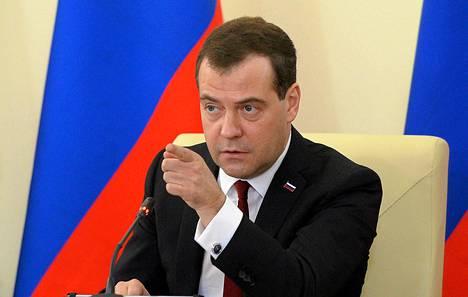Venäjän pääministeri Dmitri Medvedev vieraili maanantaina Krimin Simferopolissa.