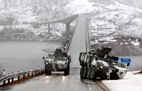 Suomalaiskomppania osallistui Nato-johtoisiin sotaharjoituksiin keväällä 2012 Pohjois-Norjassa.