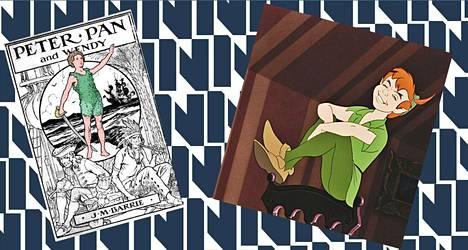 Disneyn Peter Pan ja alkuperäinen, kirjailija J. M. Barrien Peter Pan ovat melko erilaisia tyyppejä.
