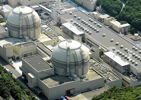 Kansai Electric Powerin reaktori numero neljä kuvattuna heinäkuussa 2012. Japani sulkee reaktorin tänään huoltotöiden johdosta.