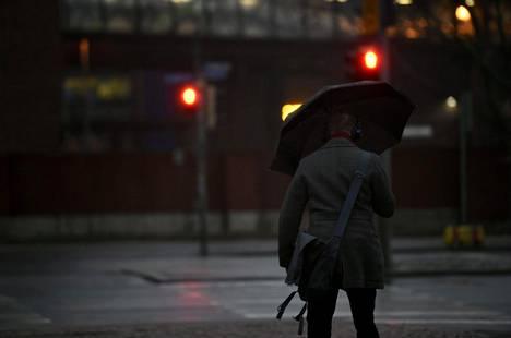 8. tammikuuta: Sadetta ja pimeyttä riitti Helsingissä alkuvuodesta.