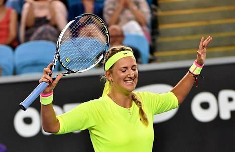 Paikka kolmannella kierroksella maistui Valko-Venäjän Victoria Azarenkalle.