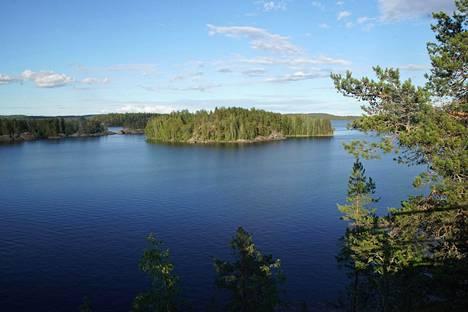 Suurten järvien tila oli selvityksessä hyvä tai erinomainen. Kuvassa Puumalan Lietvesi kesällä 2019.